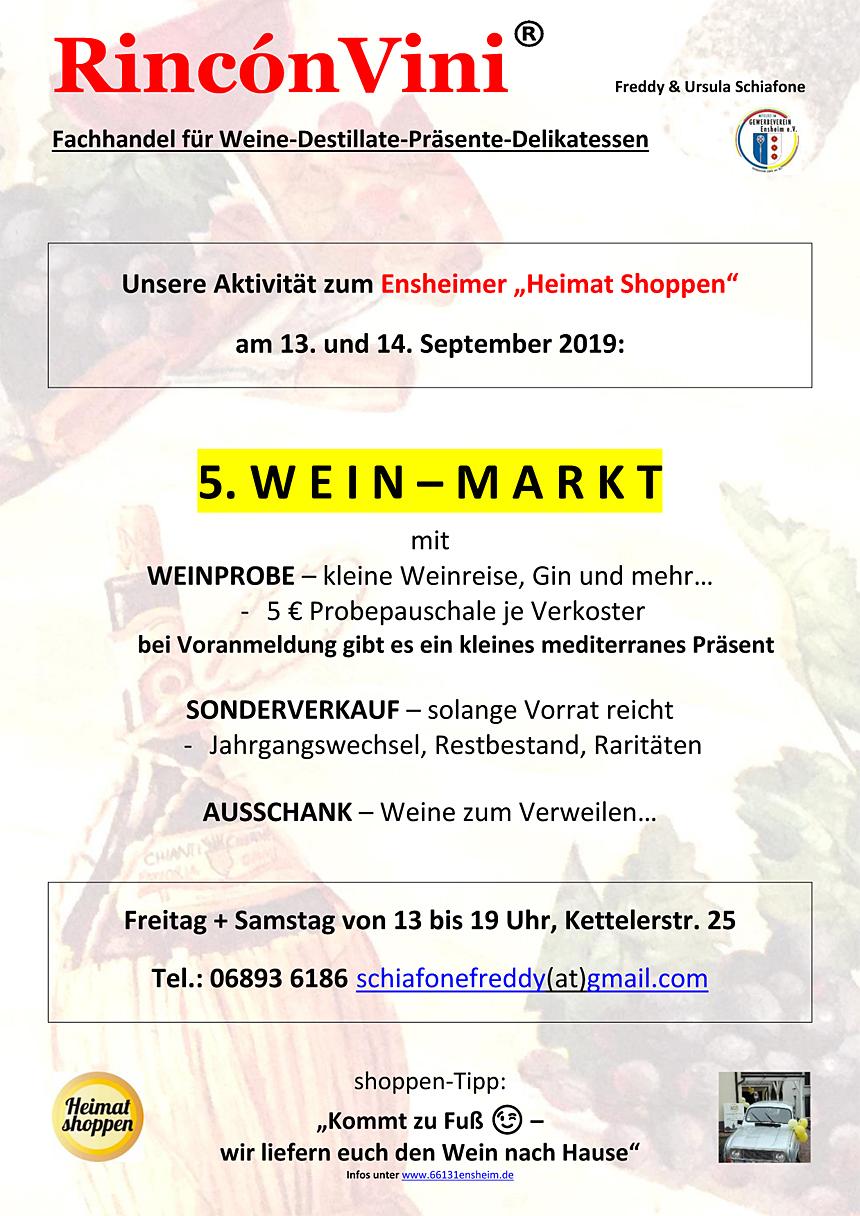 Ensheimer Heimat Shoppen - RinconVini Freddy & Ursula Schiafone